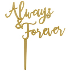 Always & Forever Gold Cake Topper LARGE