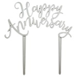 Happy Anniversary Topper - Silver THUMBNAIL