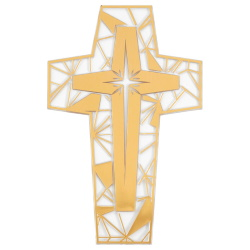 Stained Glass Cross Layon LARGE