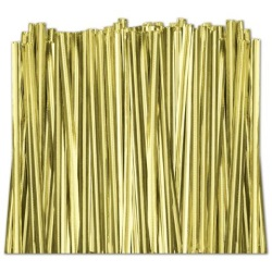 Gold Twist Ties LARGE