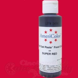 AmeriColor Gel Paste - Super Red - 4.5 oz.