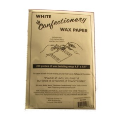 "Confectioners Wax Paper - 4"" x 5-1/2"" LARGE"