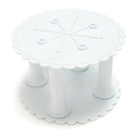 "Round Scalloped Separator Plate - 6"" White"