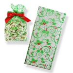 1/2 lb. Clear Bags w/Holly Design