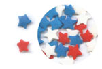 Confetti - Red, White, & Blue Stars - 2.6 oz. LARGE