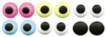 "Royal Icing Eyes - 1/2"" White / Black LARGE"