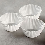 Mini Baking Cups - White