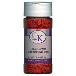 Confetti - Kissing Red Lips - 2.6 oz. LARGE
