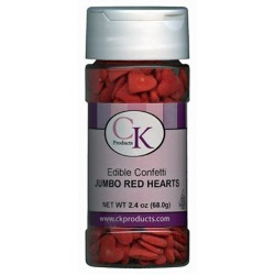 Confetti - Jumbo Red Hearts - 2 oz. LARGE