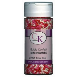 Confetti - Mini Red, White, & Pink Hearts - 3.2 oz.