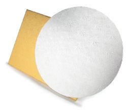 "White Foil Drum Board - 12"" Round"
