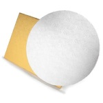 "White Foil Drum Board - 14"" Round THUMBNAIL"