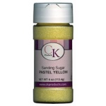 Sanding Sugar - Pastel Yellow - 4 oz. THUMBNAIL