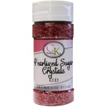 Sugar Crystals - Pearlized Red - 4 oz.