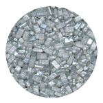 Sugar Crystals - Pearlized Silver - 4 oz.