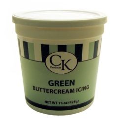 CK Buttercream Icing - Green - 15 oz. LARGE
