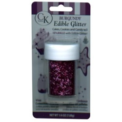 Edible Glitter - Burgundy LARGE