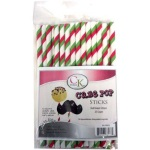 Cake Pop Stick - Red / Green Stripe