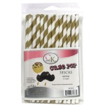 Cake Pop Stick - Gold Stripe