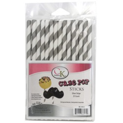 Cake Pop Stick - Silver Stripe LARGE