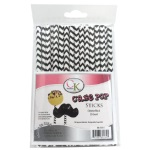 Cake Pop Stick - Black Chevron