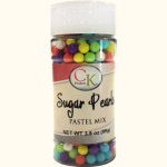 Sugar Pearls - Pastel Mix - 3.5 oz. THUMBNAIL