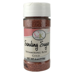 Sanding Sugar - Shimmering Rose Gold - 4 oz. LARGE