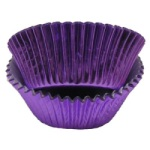 Mini Baking Cups - Foil - Purple