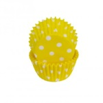 Mini Baking Cups - Yellow Polka Dot