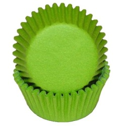 Mini Baking Cups - Solid - Lime Green LARGE