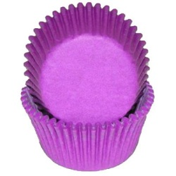 Mini Baking Cups - Solid - Purple LARGE
