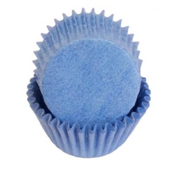 Mini Baking Cups - Solid - Light Blue LARGE