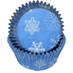 Standard Baking Cups - Blue Snowflake LARGE