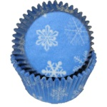 Standard Baking Cups - Blue Snowflake