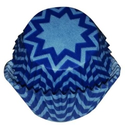 Standard Baking Cups - Blue Chevron LARGE