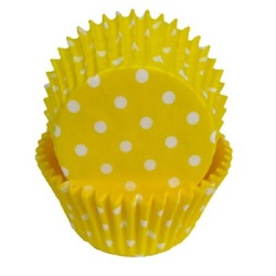 Standard Baking Cups - Polka Dots - Yellow LARGE