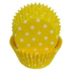 Standard Baking Cups - Polka Dots - Yellow THUMBNAIL