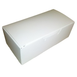 White One-Piece Candy Box - 1/2 Pound_LARGE
