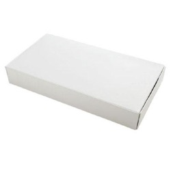 White 1/2 Pound One-Layer Candy Box LARGE