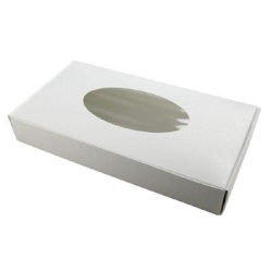 White 1 Pound Window Candy Box