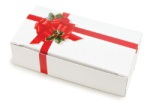 Ribbon & Holly Candy Box - 1 lb.