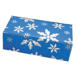 Blue Snowflake Candy Box - 1/2 lb. LARGE
