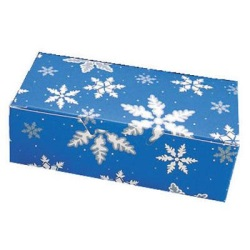 Blue Snowflake Candy Box - 1 lb.