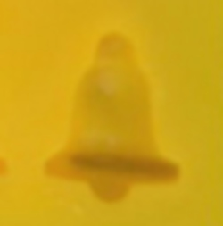 Yellow Rubber Mint Mold - Bell