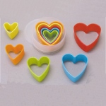 Plastic Cutter Set - Heart