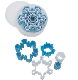 Plastic Snowflake Cookie Cutter Set