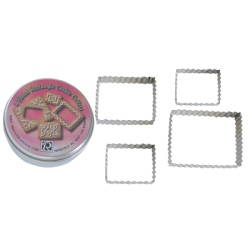 Fluted Rectangle Cutter Set - 4 pc