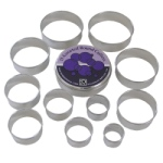 Round Cookie Cutter Set - 11 Piece