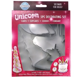 Unicorn Cake & Cookie Cutter Set - 5 Pc. LARGE