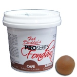 Fat Daddios Fondant - 8 oz. - Brown THUMBNAIL